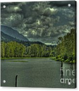 Spring Clouds At The Nicomen Slough Acrylic Print