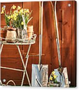 Spring Gardening Acrylic Print by Amanda Elwell