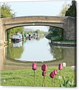 Spring On The Oxford Canal Acrylic Print