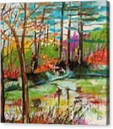 Spring Pond Side Acrylic Print