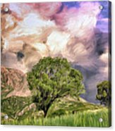 Spring Storm In Tuscany Acrylic Print