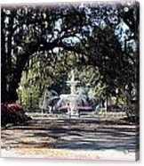 Spring Walk Through Forsyth Park Acrylic Print