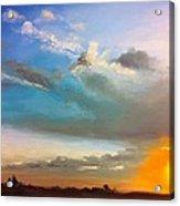 Springfield Sunset Acrylic Print by Prashant Shah