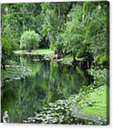 Springtime On The Lake Acrylic Print