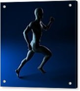 Sprinter, Artwork Acrylic Print by Sciepro