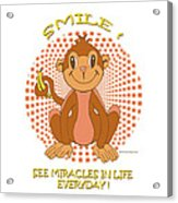 Spunky The Monkey Acrylic Print by John Keaton