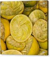 Squeezed Key Lime Halves Acrylic Print