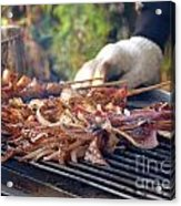 Squid Skewers Barbecue Acrylic Print