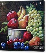 Srb Fruit Bowl Acrylic Print