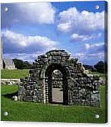 St Brigids Church, Inis Cealtra Holy Acrylic Print