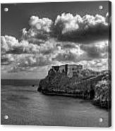 St Catherines Rock Tenby Acrylic Print by Steve Purnell