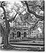 St. Charles Ave. Mansion Monochrome Acrylic Print