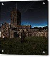 St Davids Cathedral Pembrokeshire Dusk Acrylic Print