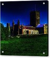 St Davids Cathedral Pembrokeshire Glow Acrylic Print