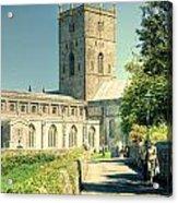 St Davids Cathedral Pembrokeshire Lomo Acrylic Print
