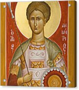 St Demetrios The Myrrhstreamer Acrylic Print by Julia Bridget Hayes