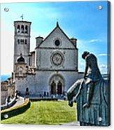 St Francis Basilica   Assisi Italy Acrylic Print