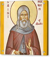 St Herman Of Alaska Acrylic Print by Julia Bridget Hayes