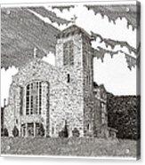 St. Joseph Apache Cathedral Acrylic Print