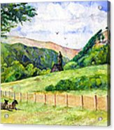 St. Kevin's And Wicklow Mountians Acrylic Print