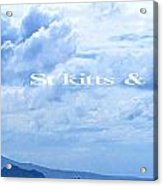 St Kitts And Nevis Poster Acrylic Print
