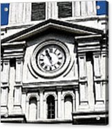 St Louis Cathedral Clock Jackson Square French Quarter New Orleans Fresco Digital Art Acrylic Print