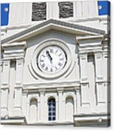 St Louis Cathedral Clock Jackson Square French Quarter New Orleans Acrylic Print