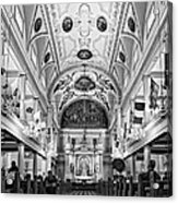 St. Louis Cathedral Monochrome Acrylic Print