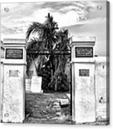 St Louis Cemetery Gate - New Orleans Acrylic Print
