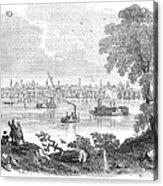 St. Louis, Missouri, 1854 Acrylic Print