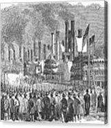 St. Louis: Steamboats, 1857 Acrylic Print