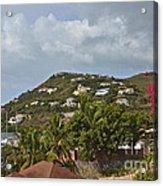St Maarten Rooftops Acrylic Print