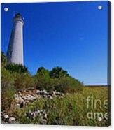 St Marks Lighthouse Along The Gulf Coastst Acrylic Print
