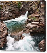 St. Mary Falls Glacier National Park Acrylic Print