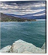 St. Mary Lake Under Stormy Skies Acrylic Print