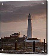 St Marys Lighthouse After Sunrise Acrylic Print