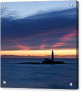 St Marys Lighthouse Sunrise Acrylic Print
