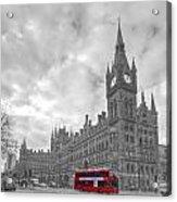 St Pancras Station Bw Acrylic Print