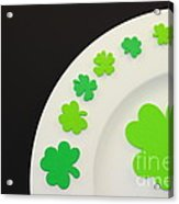 St. Patrick's Day Plate Acrylic Print