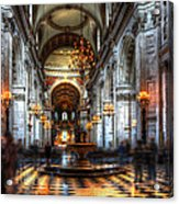 St Paul Cathedral Interior Acrylic Print