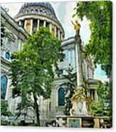 St Paul Is Giving His Blessing Acrylic Print by Steve Taylor