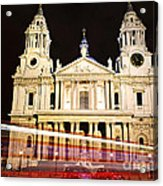 St. Paul's Cathedral In London At Night Acrylic Print