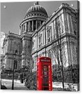 St Pauls Telephone Box Acrylic Print