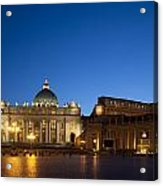 St. Peter's Basilica At Night Acrylic Print