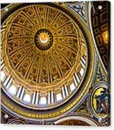 St Peter's Basilica Dome  Acrylic Print