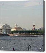 St Petersburg And River Neva - Russia Acrylic Print