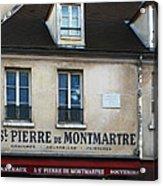 St Pierre De Montmartre Paris Scene Acrylic Print