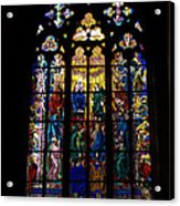 St Vitus Cathedral Stained Glass Acrylic Print