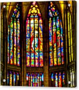 St Vitus Main Altar Stained Glass Acrylic Print