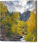 St Vrain Canyon Autumn Colorado View Acrylic Print